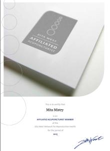 Mita Mistry Zita Certified